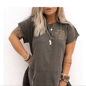 Walk On The Wild Side Side Slit Tee